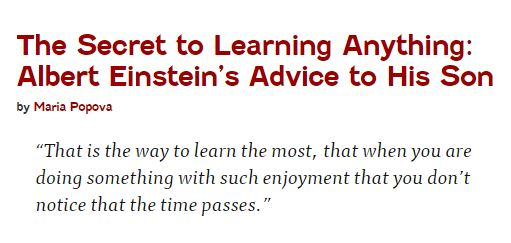 Einsteins advice